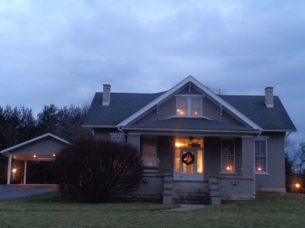 Front of Property - Evening/Night, Wampler House