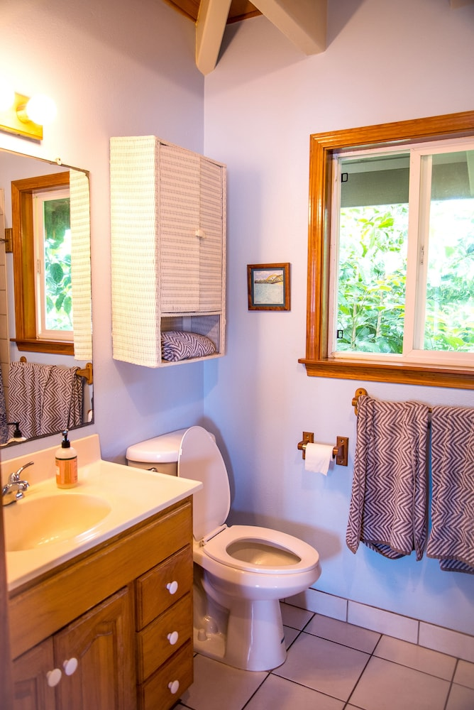 Bathroom, Bright, Clean, Airy Rocky Point Beach 1 Bedroom Loft. Steps to Beach & Bike Path