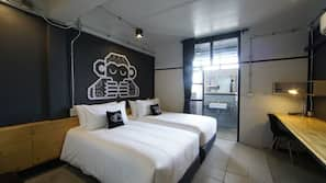 เครื่องนอนระดับพรีเมียม, ผ้าม่านกันแสง, Wi-Fi ฟรี, ผ้าปูที่นอน
