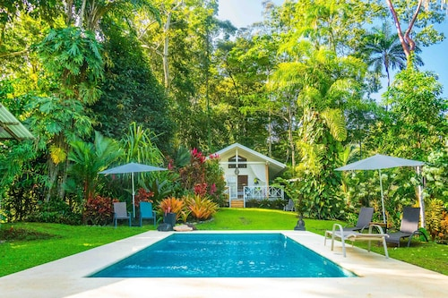 Ocean view luxury property with pool in the jungle at 300 m from the beach.