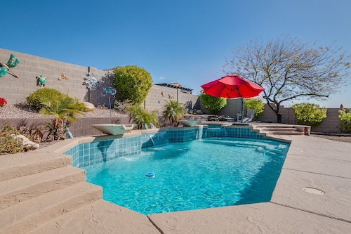 Quiet Desert Oasis With Sparkling Private Pool, Spa, Optional Attached Casita