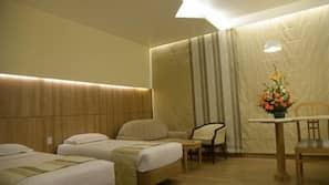 Desk, soundproofing, rollaway beds, free WiFi