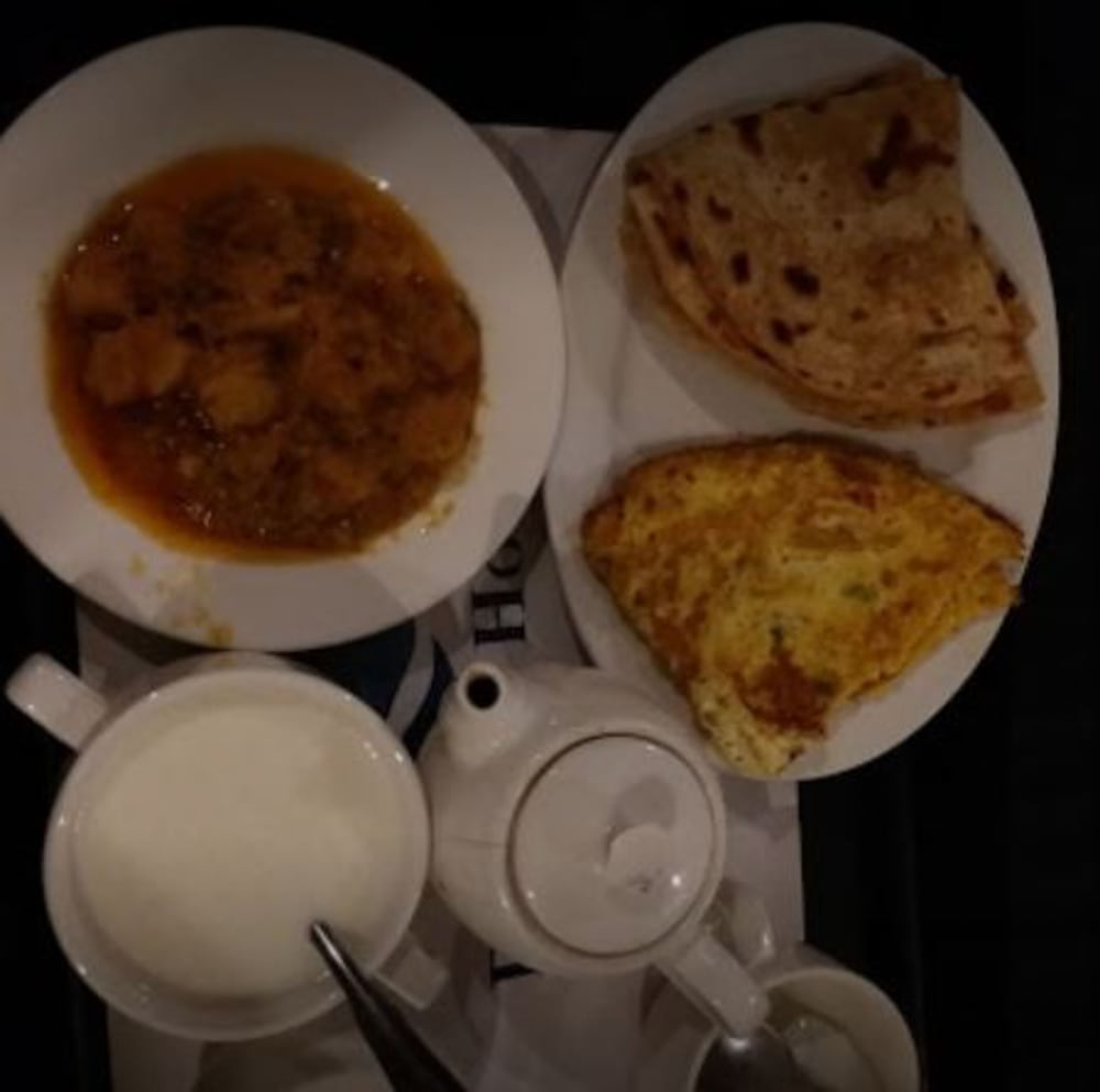 Breakfast Meal, Raj One Hotel