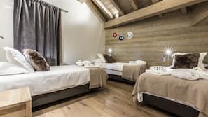 5 chambres, rideaux occultants, fer et planche à repasser