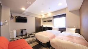房內夾萬、窗簾、熨斗/熨衫板、免費 Wi-Fi