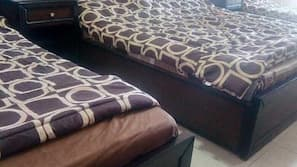 2 bedrooms, individually furnished, blackout drapes, iron/ironing board