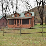 New Listing!! Rustic 2 Bedroom Cabin, Wood Burning Fireplace & Outdoor Bonfire. PET Friendly