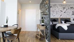 1 bedroom, hypo-allergenic bedding, individually decorated, desk