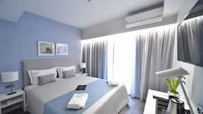 1 間臥室、保險箱、窗簾、隔音