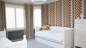5 bedrooms, premium bedding, individually decorated