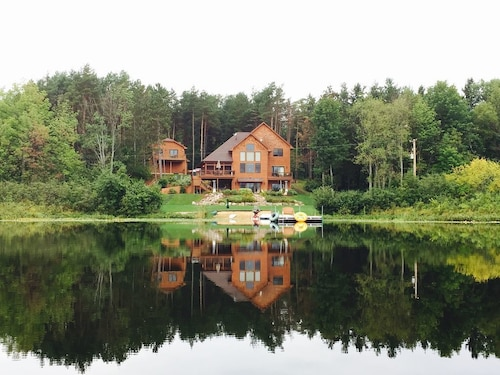 Grass Lake Lodge - Private Lakefront 5,000 SF Lodge & 1,000 SF Apt on 65 Acres