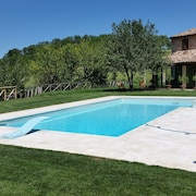 Stone Villa, With Private Pool, Immersed in the Greenery of Frasassi Park