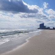 Brigantine Beach During the day and Atlantic City at Night, Best of Both Worlds!