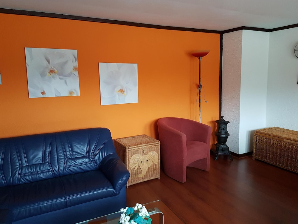 Living Room, Holiday apartment with a beautiful view of the Moselle