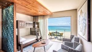 Premium bedding, free minibar, in-room safe, laptop workspace