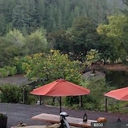 Full Apartment Sleeps 2 With Private Hottub Under Redwoods In Sonoma Wine Area