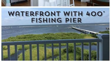 Waterfront Home w/ 400' Fishing Pier. Crab & Fish off the Pier w/ Boat Access