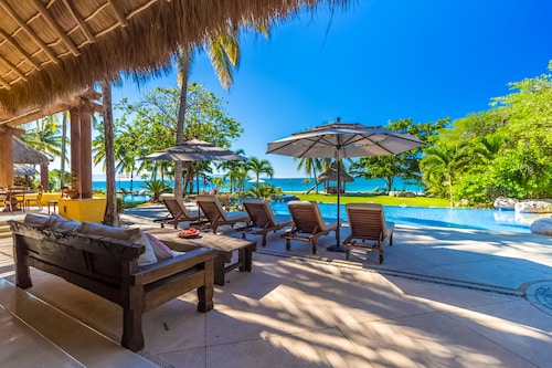 Fully Staffed Beachfront Ultra Luxurious Villa by Coldwell Banker Global Luxury!