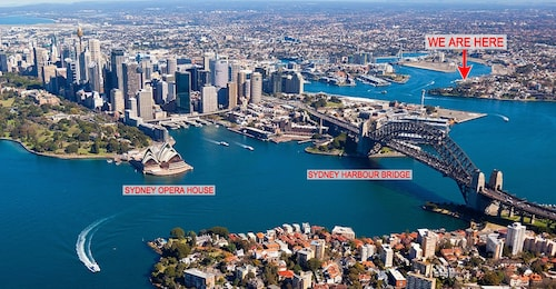 Opera House and Sydney Harbor Bridge Within Minutes From Here. See Photo map