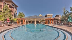 2 indoor pools, outdoor pool, open 8:00 AM to 10:00 PM, pool umbrellas