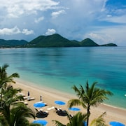 Located in The Luxury 5 Star Landings Resort and Spa, on Pigeon Island Beach