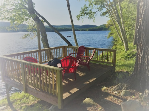 Relax & Enjoy Belgrade Lakes Long Pond 200ft of Owned Direct Frontage & Views