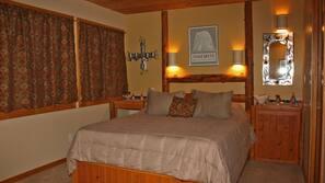1 makuuhuone, silitysrauta/-lauta, vuodevaatteet