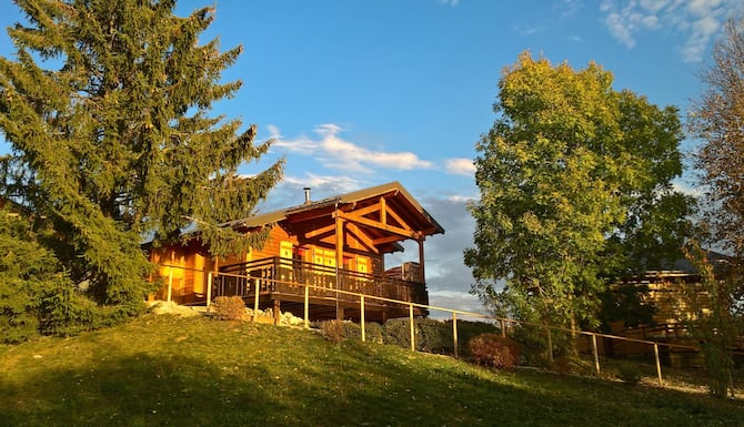 Cozy Chalet Haut Jura Swimming Pool On The Estate Terrace With