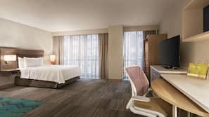 Premium bedding, down comforters, Select Comfort beds, desk