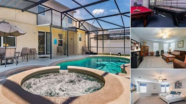 Spacious Pool Home With Games Room Overlooking Conservation Close to WDW