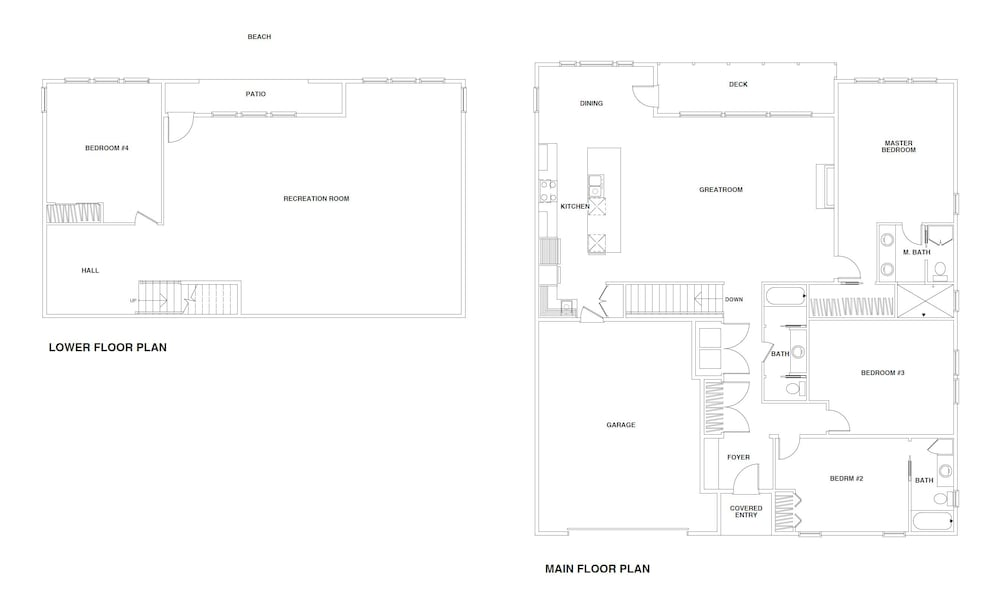 Floor plan, Contemporary Ocean Front Home in Pacific City