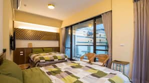 高級寢具、設計自成一格、家具佈置各有特色、窗簾