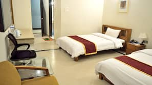 Premium bedding, individually decorated, desk, blackout drapes