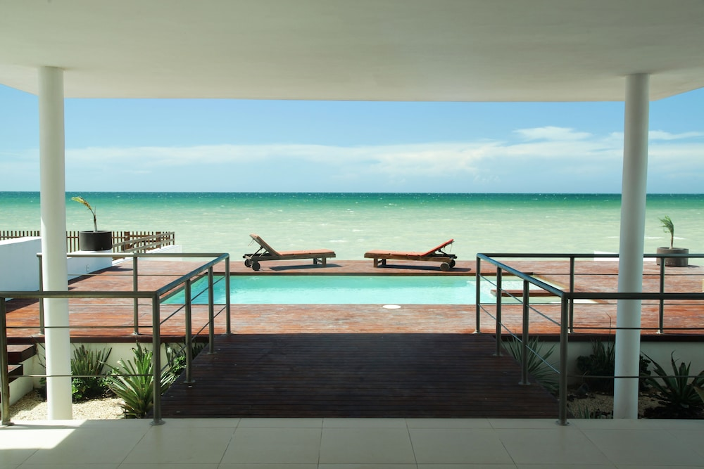 View from Property, Beachfront Upscale House in Telchac