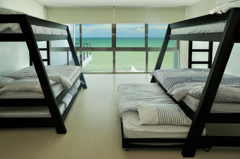 Room, Beachfront Upscale House in Telchac