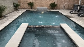 A heated pool