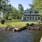 Sits on Edge of Oneida River, Great Swimming an Fishing in River and Oneida Lake