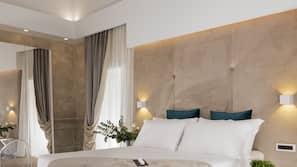 Down duvets, memory-foam beds, minibar, in-room safe