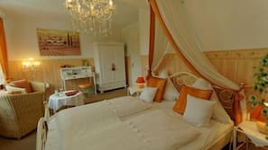 Individually decorated, iron/ironing board, bed sheets