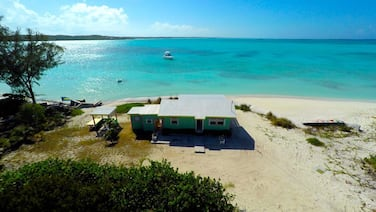 Secluded beach house on Hooper's Bay, Great Exuma, The Bahamas