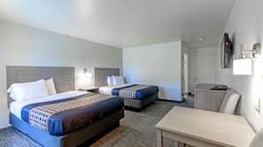 Desk, laptop workspace, cribs/infant beds, rollaway beds