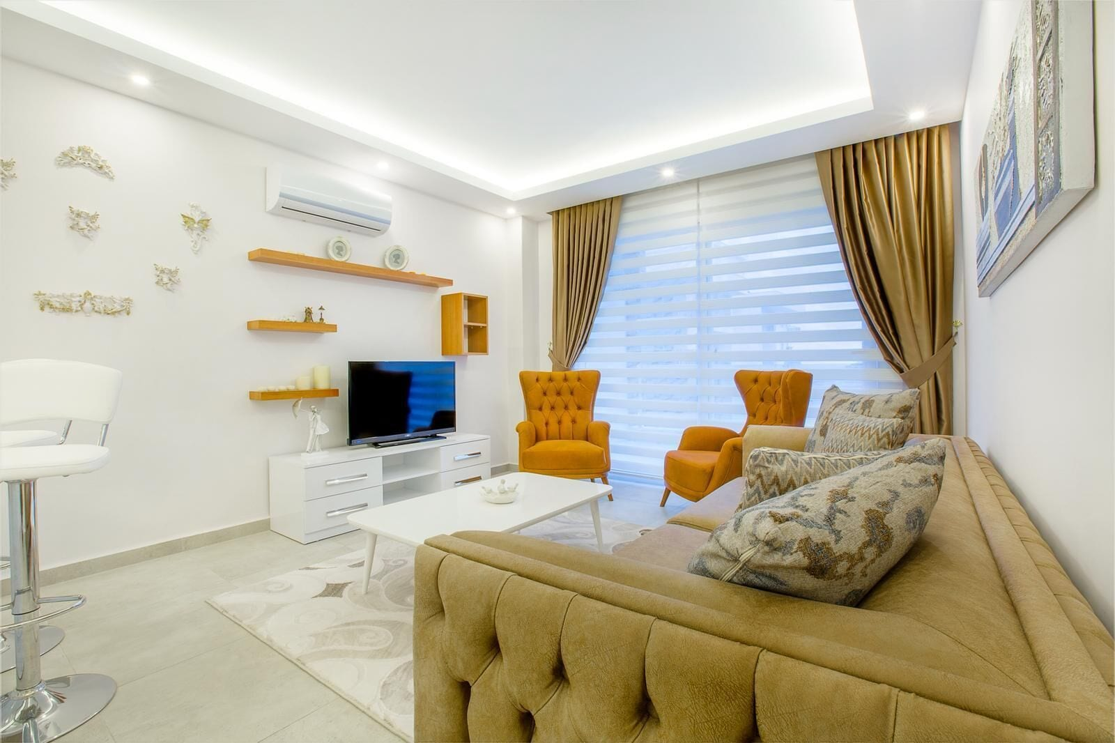 Picture of: Sea View Apartment At The Beach Alanya Kestel 1 Bedroom 1 Living Room Alanya Tyrkiet Expedia Dk