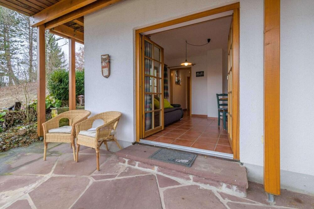 Sauna Da Casa.Casa De Madeira Oberbrandi Relaxamento Na 160m Com Sauna
