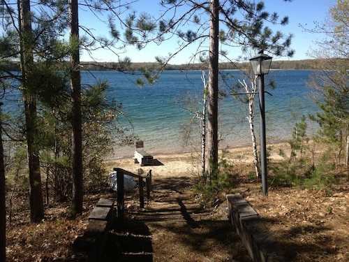 Big Bear Lake Cottage & 150' Private Beach - Great Swimming, Boating & Fishing