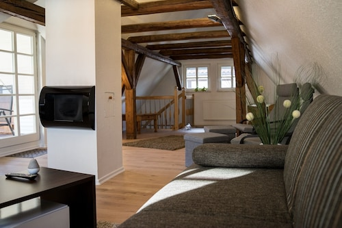 Beautiful Timbered Apartment With Garage and Roof Terrace