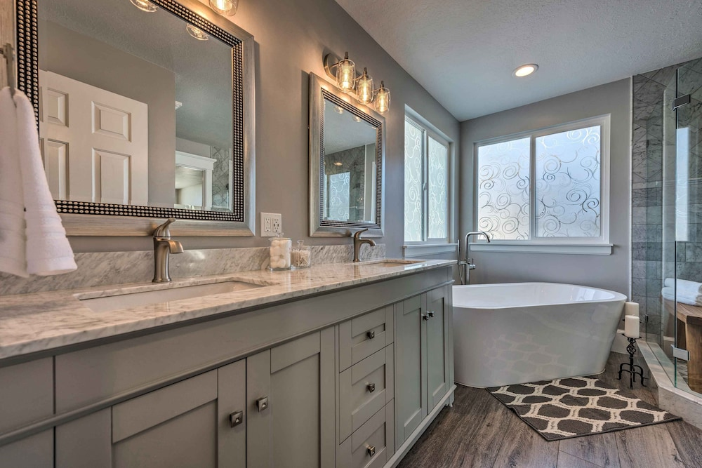 Bathroom, Luxury Sandy Home - 19 Mi to Salt Lake City!