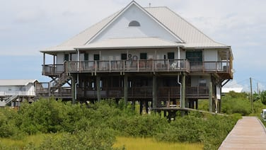 Beautiful Large Waterfront Home on the Bay with Lighted Fishing Pier.