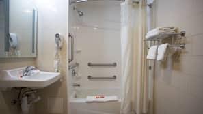 Free toiletries, hair dryer, towels