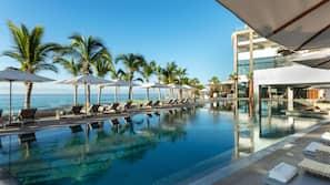 8 outdoor pools, pool umbrellas