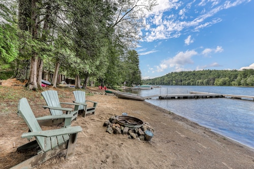 NEW Listing! Dog-friendly, Lakefront Cottage With Large Dock, Sandy Beach